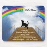 Rainbow Bridge Memorial Poem for Cats Mousepad