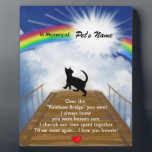 "Rainbow Bridge Memorial Poem for Cats Plaque<br><div class=""desc"">Losing a a cat is never easy... ... .. it&quot;s like losing your best friend and a member of your family. Many BELIEVE when their beloved cat dies they cross over the Rainbow Bridge. Angel artist and pet lover, Angelina LaFera, illustrated this heartfelt tribute and wrote this memorial poem to...</div>"
