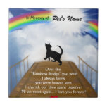 """Rainbow Bridge Memorial Poem for Cats Tile<br><div class=""""desc"""">Losing a a cat is never easy... ... .. it""""s like losing your best friend and a member of your family. Many BELIEVE when their beloved cat dies they cross over the Rainbow Bridge. Angel artist and pet lover, Angelina LaFera, illustrated this heartfelt tribute and wrote this memorial poem to...</div>"""