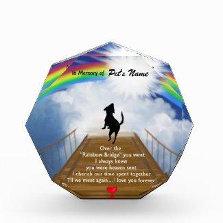 Rainbow Bridge Memorial Poem for Dogs Acrylic Award