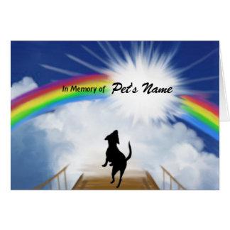 Rainbow Bridge Memorial Poem for Dogs Card