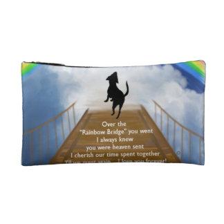 Rainbow Bridge Memorial Poem for Dogs Cosmetic Bag