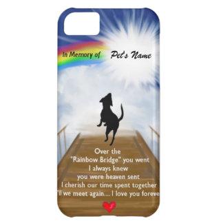 Rainbow Bridge Memorial Poem for Dogs iPhone 5C Cover