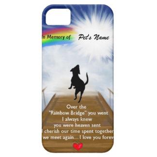 Rainbow Bridge Memorial Poem for Dogs iPhone SE/5/5s Case