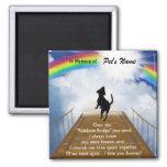 Rainbow Bridge Memorial Poem for Dogs 2 Inch Square Magnet