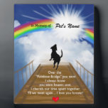 """Rainbow Bridge Memorial Poem for Dogs Plaque<br><div class=""""desc"""">Losing a a dog is never easy... ... .. it&quot;s like losing your best friend and a member of your family. Many BELIEVE when their beloved dog dies they cross over the Rainbow Bridge. Angel artist and pet lover, Angelina LaFera, illustrated this heartfelt tribute and wrote this memorial poem to...</div>"""