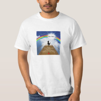 Rainbow Bridge Memorial Poem for Dogs T-shirts