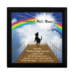 Rainbow Bridge Memorial Poem for Dogs Trinket Box