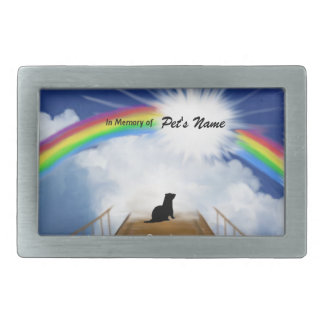 Rainbow Bridge Memorial Poem for Ferrets Rectangular Belt Buckles