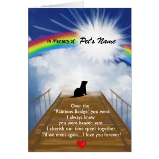 Rainbow Bridge Memorial Poem for Ferrets Card