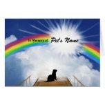 Rainbow Bridge Memorial Poem for Ferrets Greeting Card
