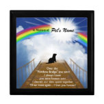 Rainbow Bridge Memorial Poem for Ferrets Keepsake Boxes