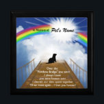 """Rainbow Bridge Memorial Poem for Ferrets Keepsake Box<br><div class=""""desc"""">Losing a a ferret is never easy... ... .. it&quot;s like losing your best friend and a member of your family. Many BELIEVE when their beloved ferret dies they cross over the Rainbow Bridge. Angel artist and pet lover, Angelina LaFera, illustrated this heartfelt tribute and wrote this memorial poem to...</div>"""