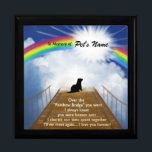 "Rainbow Bridge Memorial Poem for Ferrets Keepsake Box<br><div class=""desc"">Losing a a ferret is never easy... ... .. it&quot;s like losing your best friend and a member of your family. Many BELIEVE when their beloved ferret dies they cross over the Rainbow Bridge. Angel artist and pet lover, Angelina LaFera, illustrated this heartfelt tribute and wrote this memorial poem to...</div>"