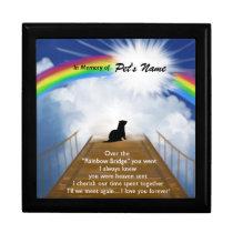 Rainbow Bridge Memorial Poem for Ferrets Keepsake Box