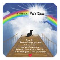 Rainbow Bridge Memorial Poem for Ferrets Square Sticker