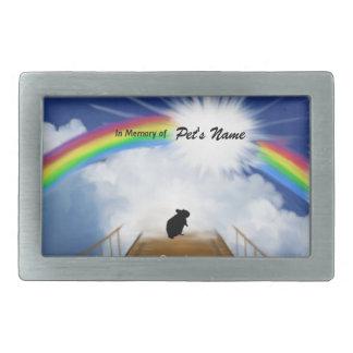 Rainbow Bridge Memorial Poem for Hamsters Belt Buckles