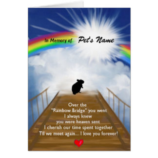 Rainbow Bridge Memorial Poem for Hamsters Card