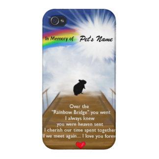 Rainbow Bridge Memorial Poem for Hamsters Case For iPhone 4