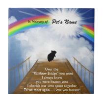 Rainbow Bridge Memorial Poem for Hamsters Ceramic Tile