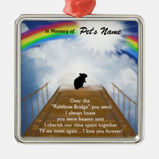 Rainbow Bridge Memorial Poem for Hamsters Metal Ornament