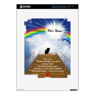 Rainbow Bridge Memorial Poem for Hamsters Skins For iPad 3