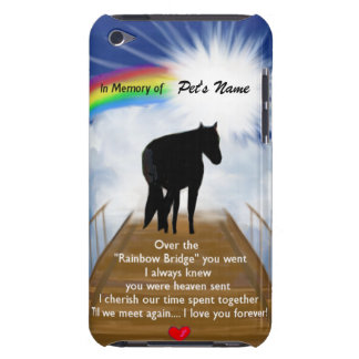 Rainbow Bridge Memorial Poem for Horses iPod Touch Case-Mate Case