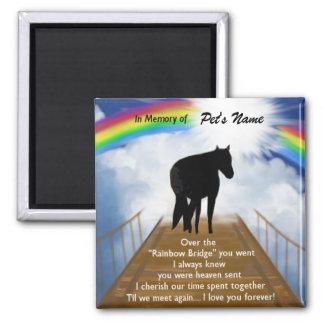 Rainbow Bridge Memorial Poem for Horses Magnet