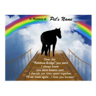 Rainbow Bridge Memorial Poem for Horses Postcard