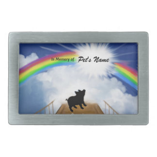 Rainbow Bridge Memorial Poem for Pigs Belt Buckles