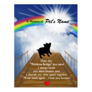 Rainbow Bridge Memorial Poem for Pigs Postcard