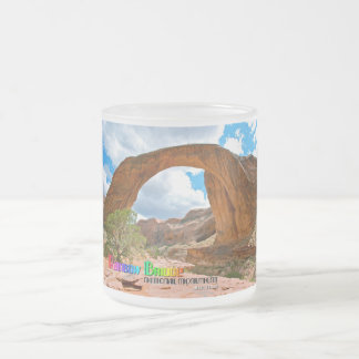Rainbow Bridge Nat'l Monument Frosted Glass Coffee Mug