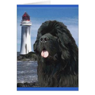 Rainbow Bridge Newfoundland dog Card