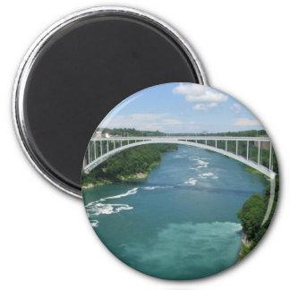 Rainbow Bridge, Niagara Falls 2 Inch Round Magnet