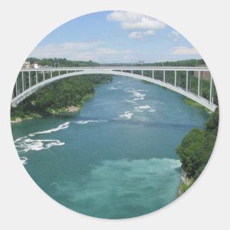 Rainbow Bridge, Niagara Falls Classic Round Sticker