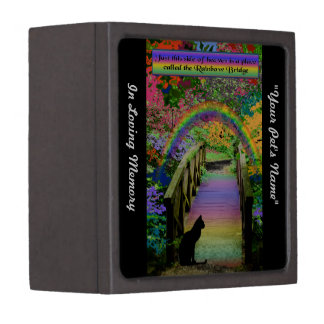 Rainbow Bridge Pet Cat Memorial Memory Box