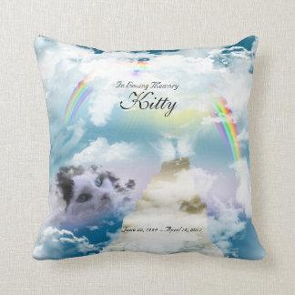 Rainbow Bridge Pet Cat Memorial Pillows