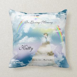 Rainbow Bridge Pet Cat Memorial Throw Pillow