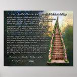Rainbow Bridge Pet Loss Personalized Wall Print