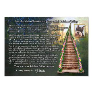 Rainbow Bridge Pet Loss Photo Sympathy Card
