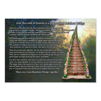 Rainbow Bridge Pet Loss Sympathy Card