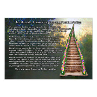 Rainbow Bridge Pet Loss Sympathy Card Custom Announcement