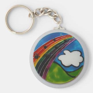 Rainbow Bridge Pet Memorial Keychain