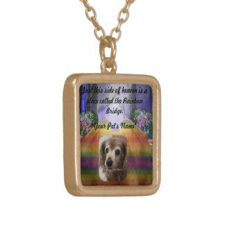 Rainbow Bridge Pet Memorial Memory Necklace
