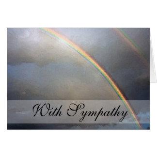 Rainbow Bridge Pet Sympathy Condolence Greeting Card