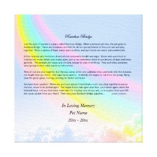Rainbow Bridge Pet Sympathy Wrapped Canvas, FEMALE Canvas Print