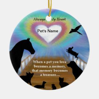 Rainbow Bridge Pets Ceramic Ornament