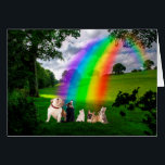 """Rainbow Bridge Poem Card<br><div class=""""desc"""">Just this side of heaven is a place called Rainbow Bridge. When an animal dies that has been especially close to someone here, that pet goes to Rainbow Bridge. There are meadows and hills for all of our special friends so they can run and play together. There is plenty of...</div>"""