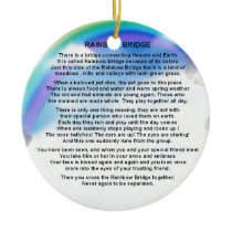 Rainbow Bridge Poem Ceramic Ornament