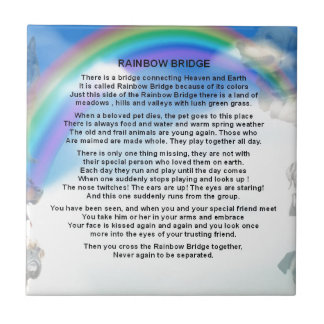 Rainbow Bridge Poem Ceramic Tile